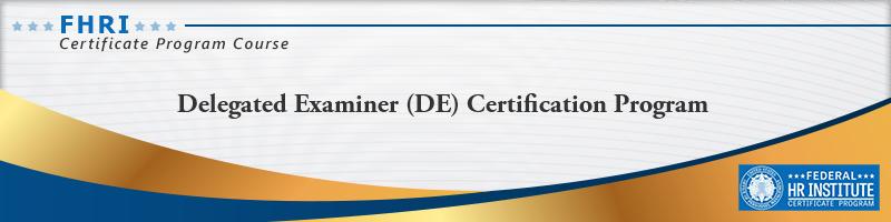 Delegated Examining Certification Program